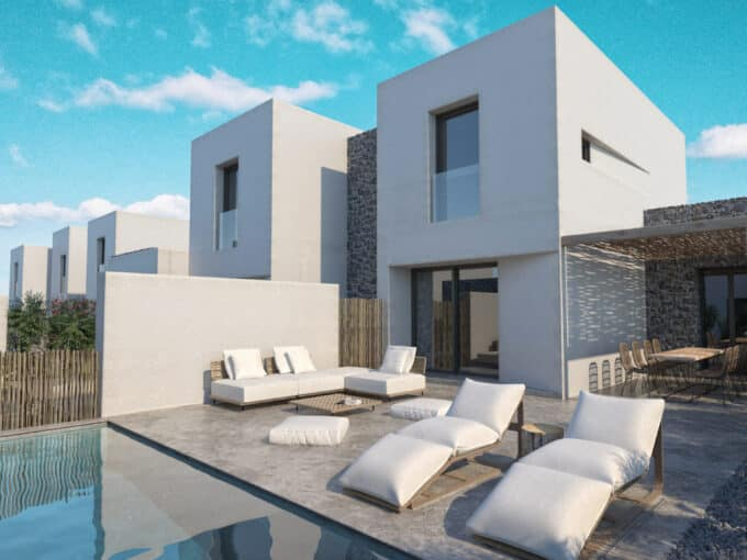 Townhouses with private pool - Ag. Anna